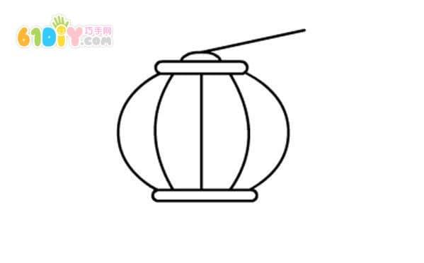 中秋节灯笼简笔画