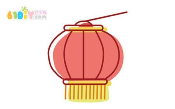 中秋节灯笼简笔画图片