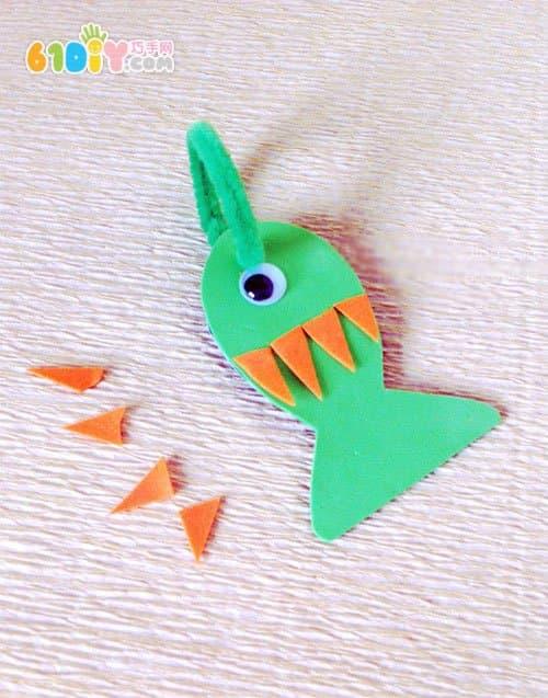 海绵纸diy 钓鱼玩具手工制作