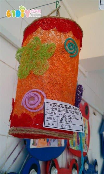 幼儿园中秋节 小朋友们的手工灯笼作品