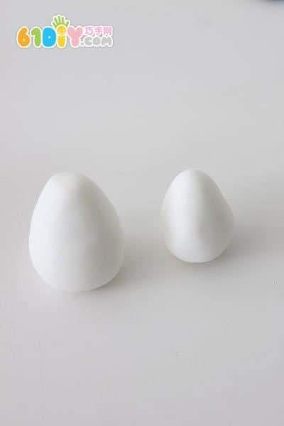 超轻黏土制作中秋节玉兔步骤