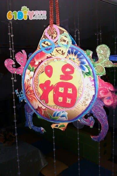 幼儿园中秋节走廊挂饰 月饼盒灯笼