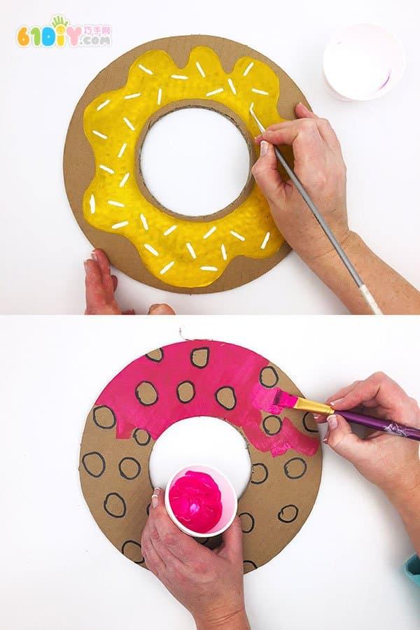 废纸板制作可爱的飞盘玩具