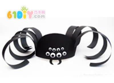 万圣节装扮道具制作 蜘蛛帽图片