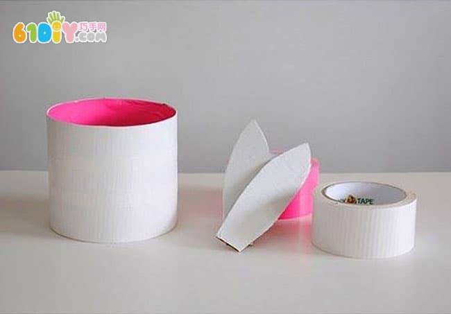 废纸盒制作小兔子收纳盒