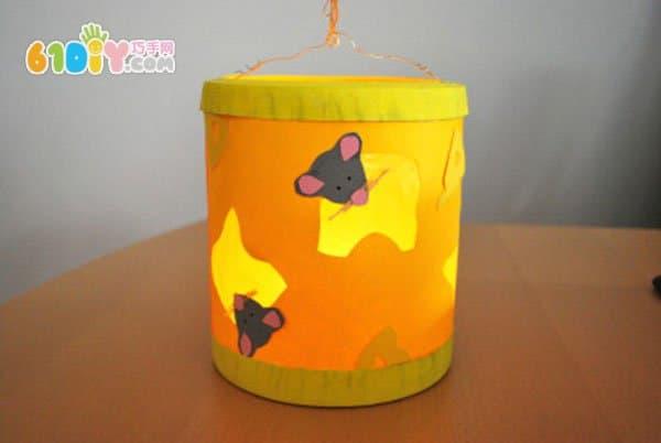 新年花灯制作 小老鼠和奶酪