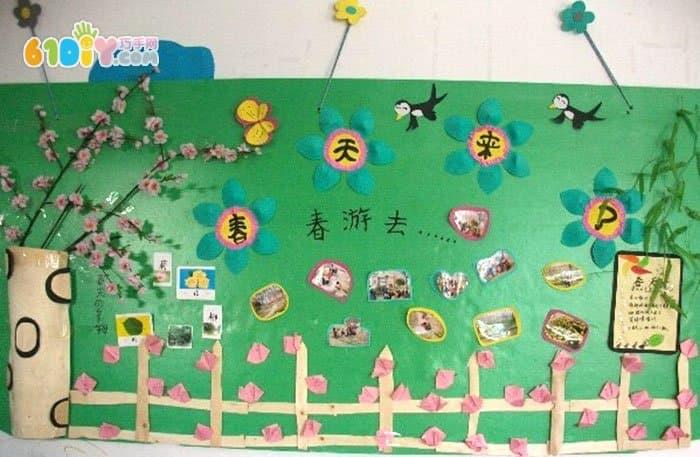 幼儿园春天来了主题墙设计_巧巧手幼儿手工网