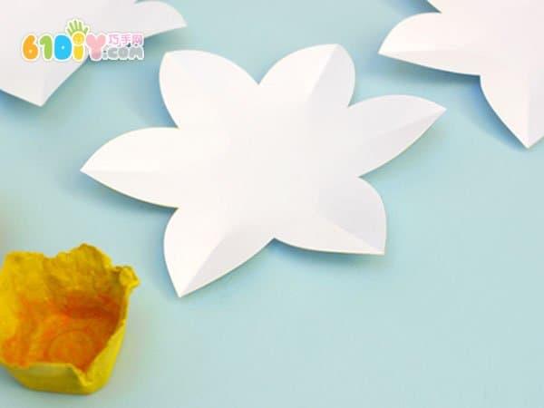 春天创意手工 鸡蛋托diy制作水仙花