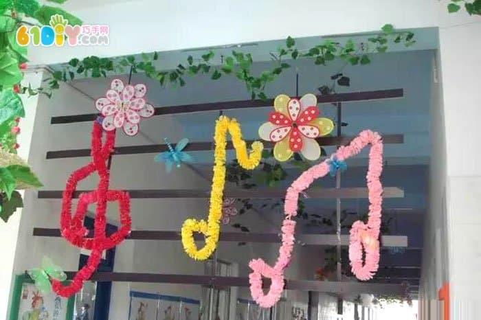 幼儿园春天吊饰装饰图片_巧巧手幼儿手工网