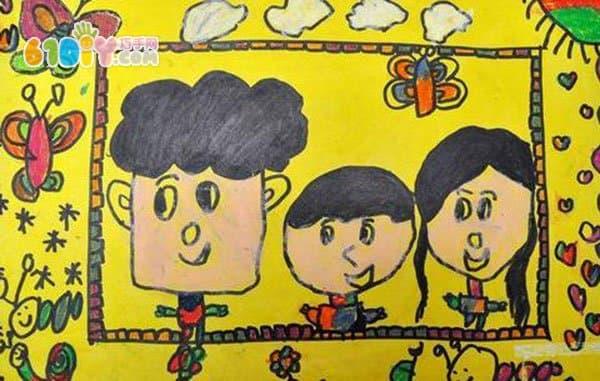 全家福儿童画作品_巧巧手幼儿手工网