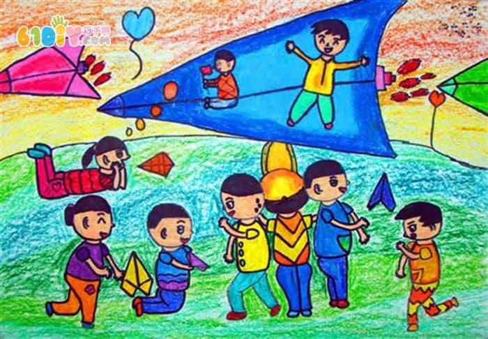 清明节踏青儿童绘画作品_巧巧手幼儿手工网
