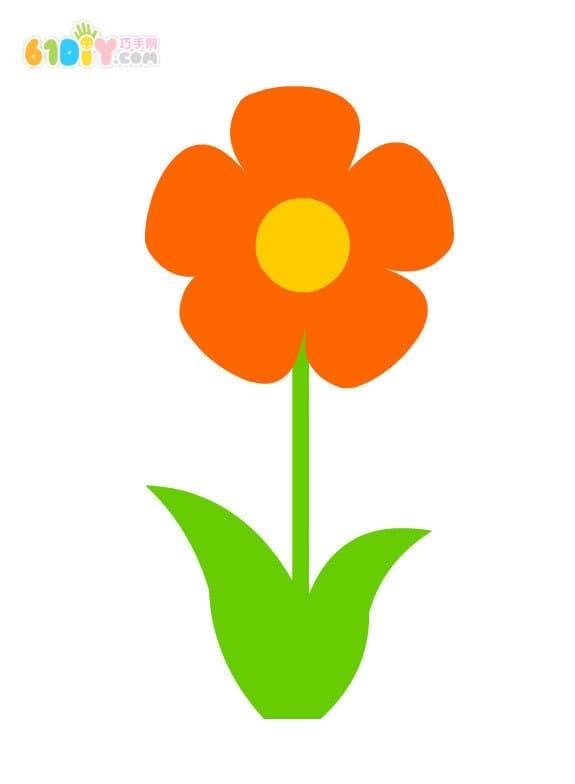 春天儿童手工 简单的小花制作