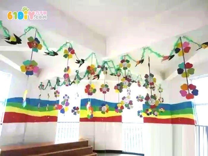 幼儿园春天的花朵吊饰图片