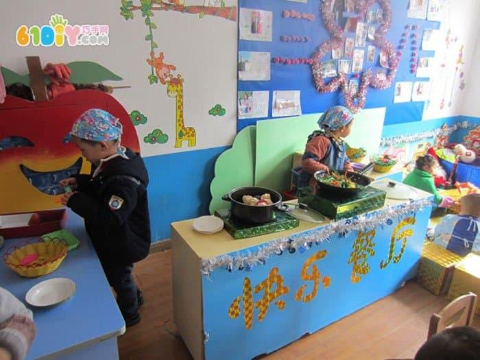 幼儿园餐厅区角布置图片