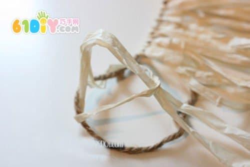 幼儿园演出服:纸绳手工制作夏威夷裙
