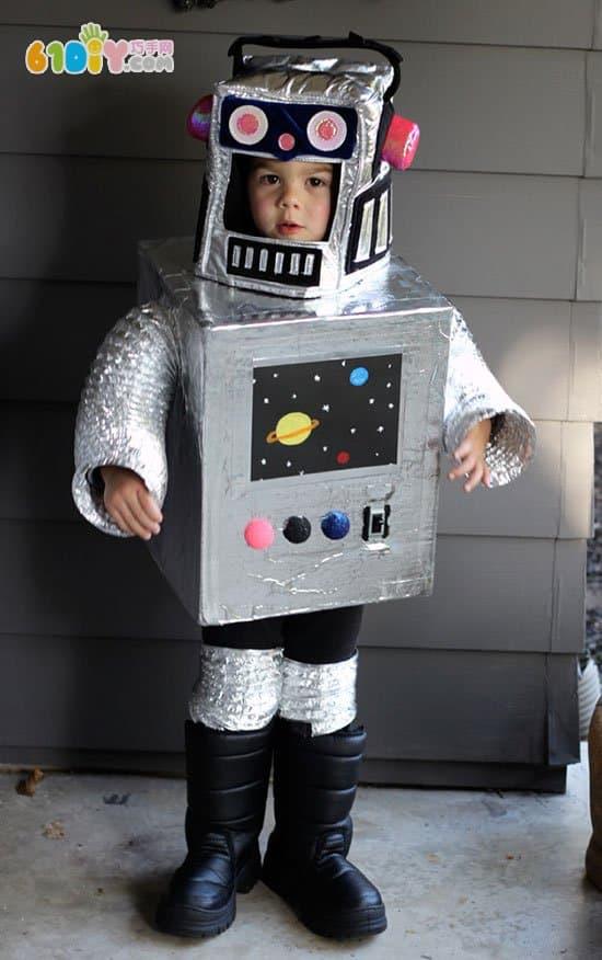 纸箱机器人服饰手工作品