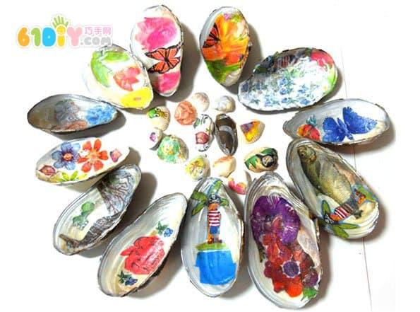 儿童diy贝壳工艺品