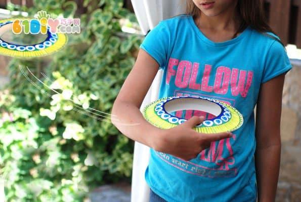 儿童玩具diy 纸盘手工制作飞盘