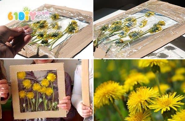 儿童手工制作花朵装饰画
