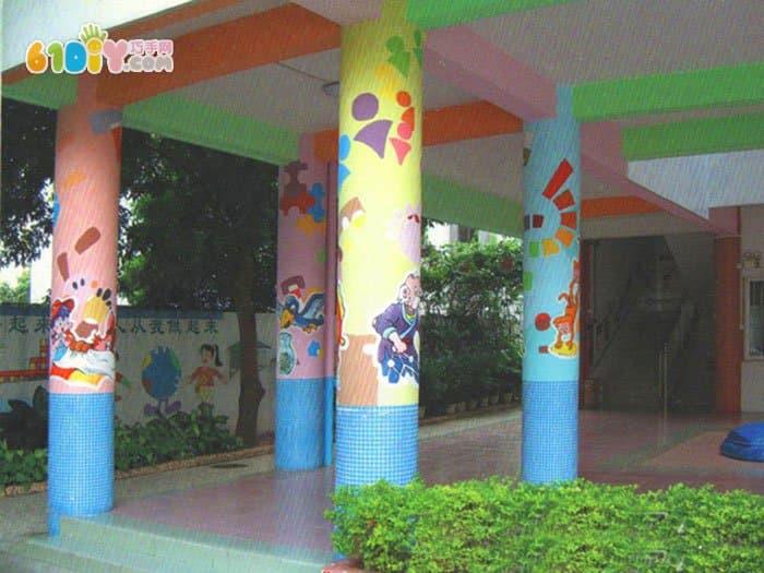 幼儿园柱子装饰图片