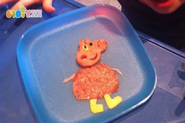 宝宝趣味早餐diy 可爱粉红小猪