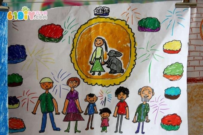 中秋节儿童绘画作品