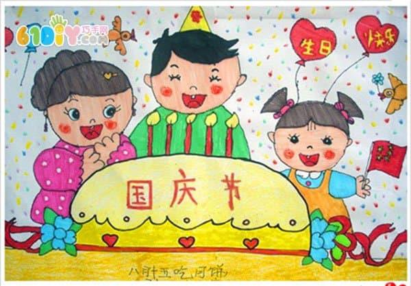 欢庆国庆节儿童画_巧巧手幼儿手工网