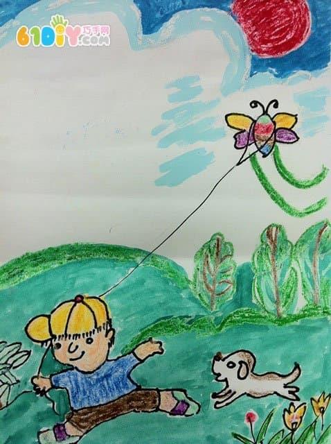 美好家园儿童画作品图片