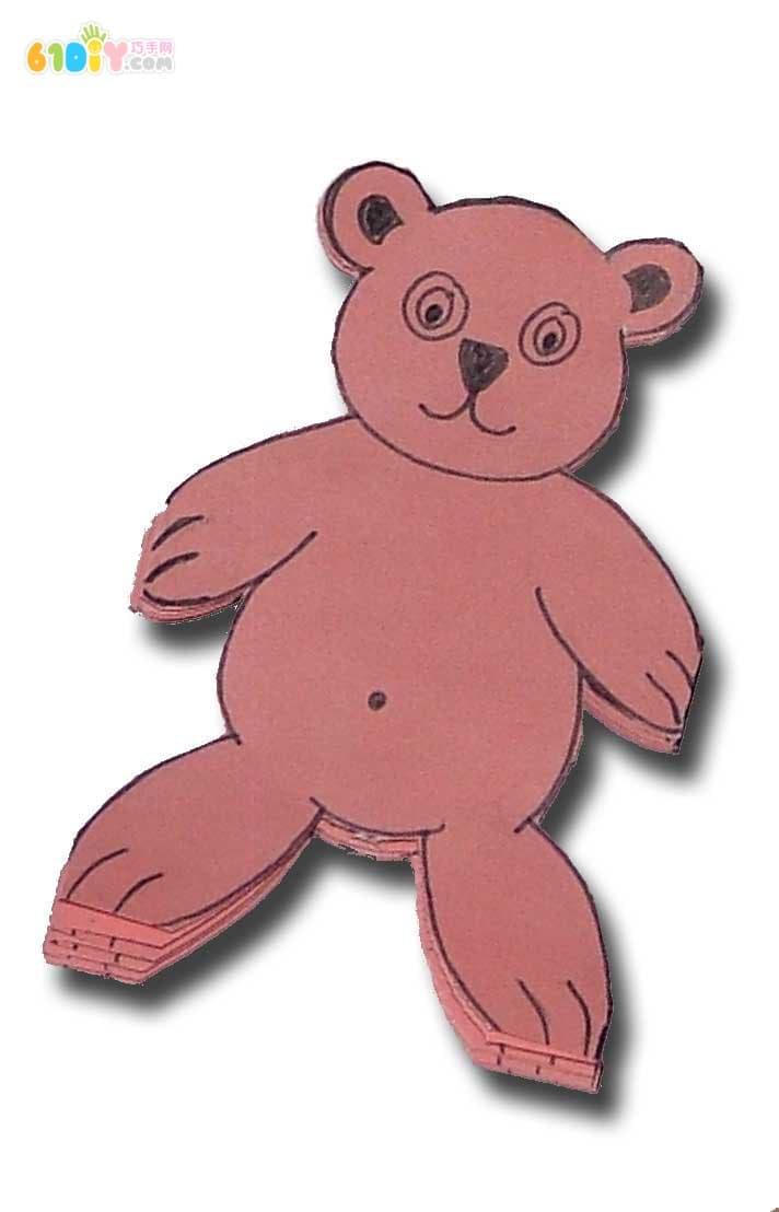 手拉手的小熊剪纸