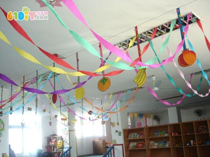 幼儿园新年吊饰布置图片