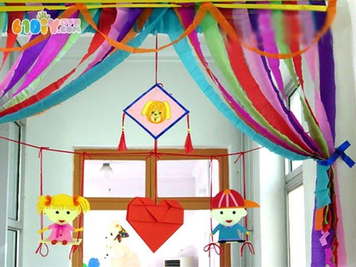 幼儿园装饰新年吊饰图片_巧巧手幼儿手工网