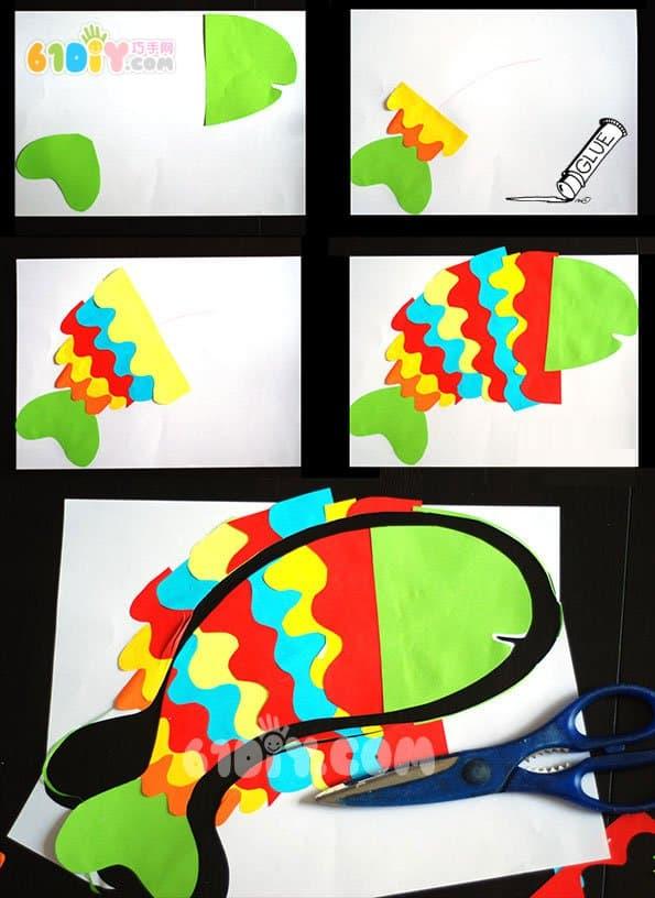 儿童手工制作吉祥新年鱼