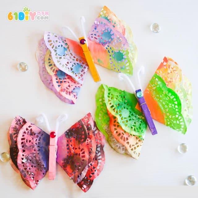 儿童手工制作春天的蝴蝶