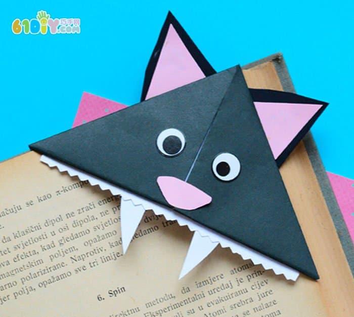 万圣节黑猫书签折纸