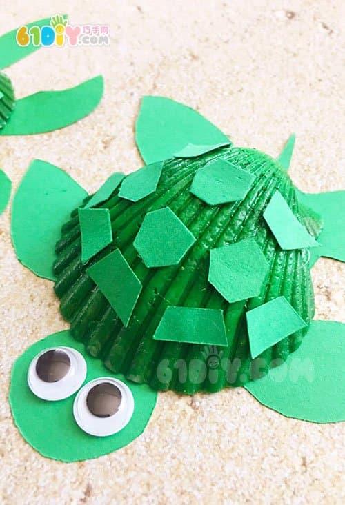 夏天儿童手工制作贝壳乌龟