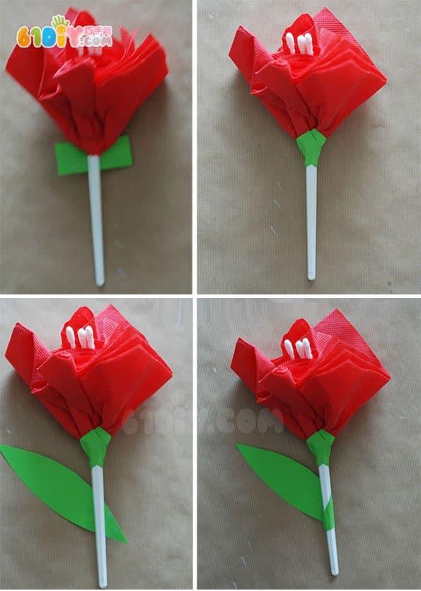 教师节儿童手工制作美丽小花