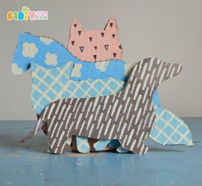 废纸板手工制作动物