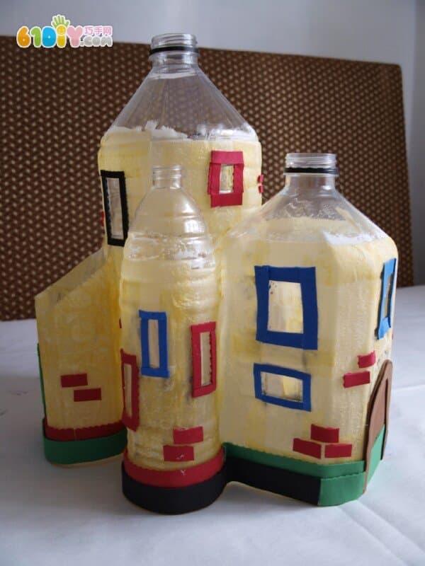 怎样用塑料瓶制作城堡摆件_巧巧手幼儿手工网